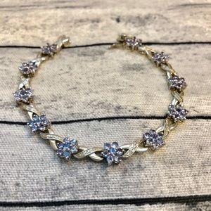 Stunning Periwinkle Blue .925 Silver Bracelet